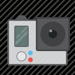extreme camera, go pro, gopro, hero gopro, underwater camera, waterproof camera icon