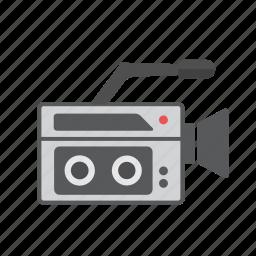 cassette, film video, live video, retro camera, vhs video, video camera icon