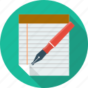 checklist, edit, file, list, paper, pen, survey icon