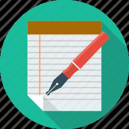 checklist, edit, file, list, paper, pen, survey icon