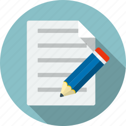 checklist, document, edit, paper, pen, pencil, survey icon