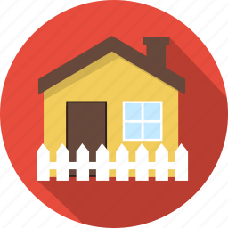 building, estate, fence, home, house icon