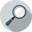 find, glass, loupe, magnifier, magnifying glass, search, zoom icon