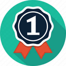 achievement, award, badge, medal, prize, rank, win icon