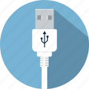 cable, connector, cord, plug, usb, wire icon