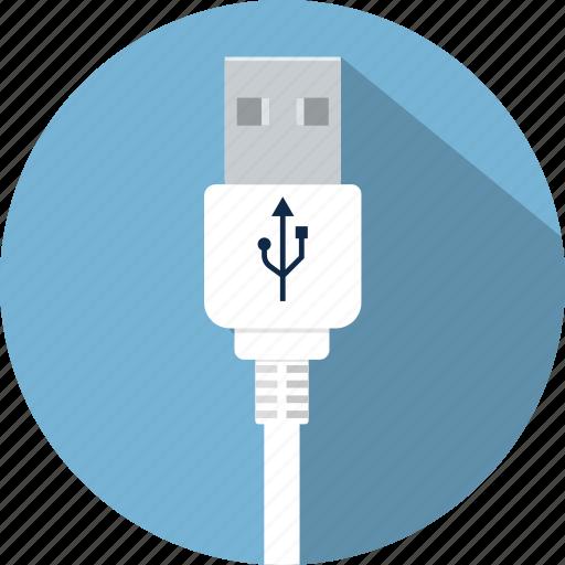 cable, connector, cord, plug, usb, wire icon