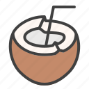 pina, colada, cocktail, drink, coconut