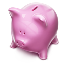 money, piggybank, pink