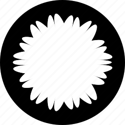 bloom, decorative, floral, flower, shape, sign icon