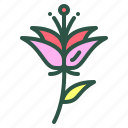 blossom, floral, flower, lily, nature icon