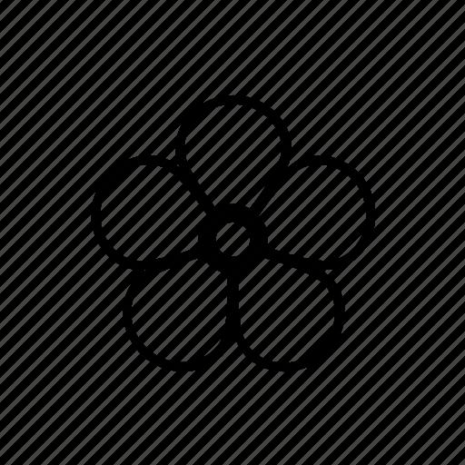 bloom, blossom, flower, geometric, nature icon