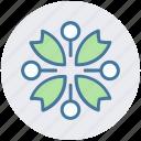 blossom, flower, gander flower, marigold, nature icon
