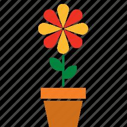 decoration, floral, flower, flowerpot, garden, nature icon