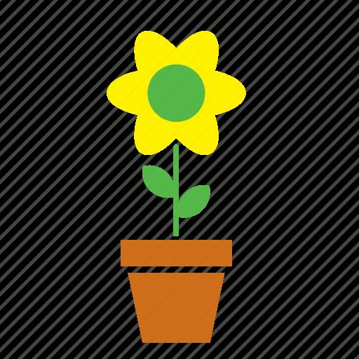 decoration, floral, flower, flowerpot, garden, nature, sunflower icon
