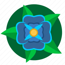blue, flower, green, nature, plant icon