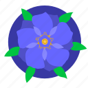 blue, flower, nature, plant, violet icon