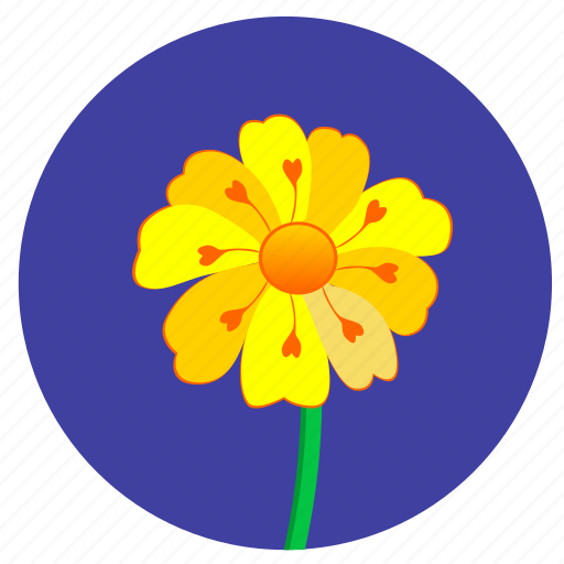 Flowers of nature by inmotus design flower nature plant round yellow icon mightylinksfo