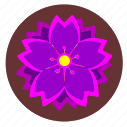 flower, nature, pink, plant, violet icon