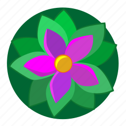 flower, green, nature, plant, violet icon