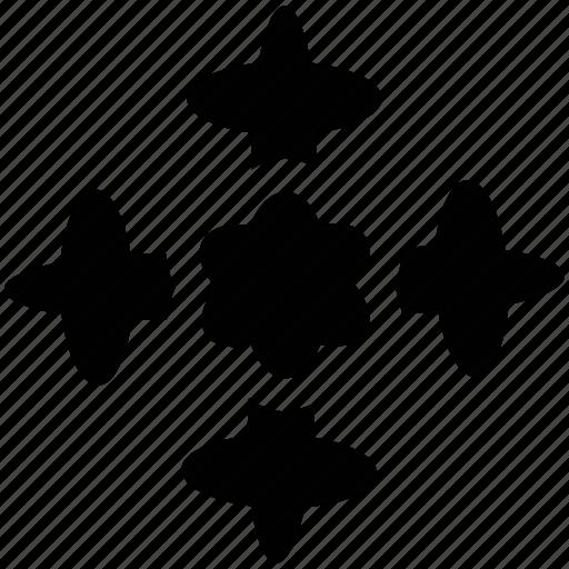 creative flower, creative shape, flower, snowflake icon