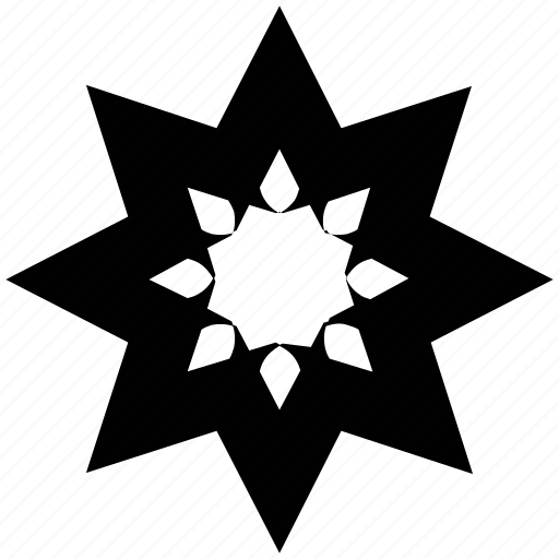 creative flower, flower, star shape icon