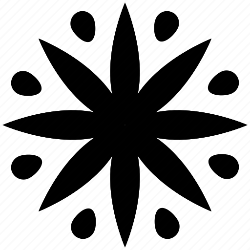 creative, creative flower, flower, flower design, snowflake shape icon