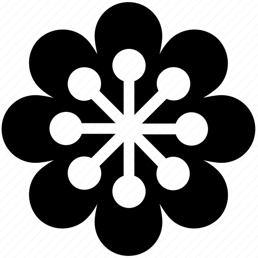 creative, dotted flower, dotted petals, flower, pretty icon