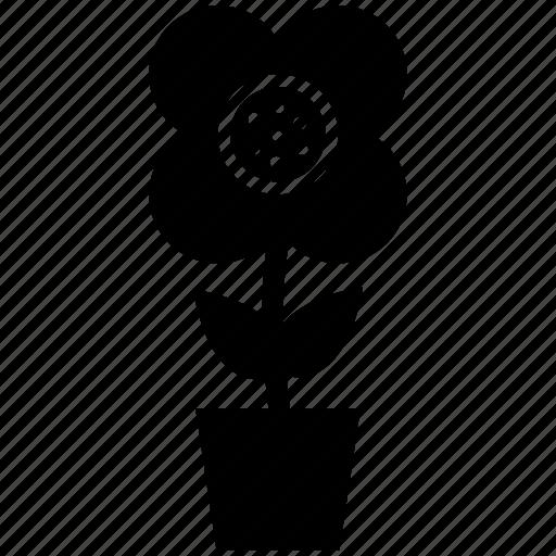 creative, flower, flower in pot, flower with stem, pretty icon
