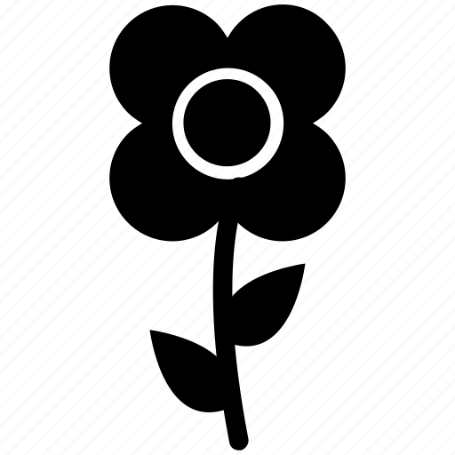 creative, flower, flower with stem, pretty icon