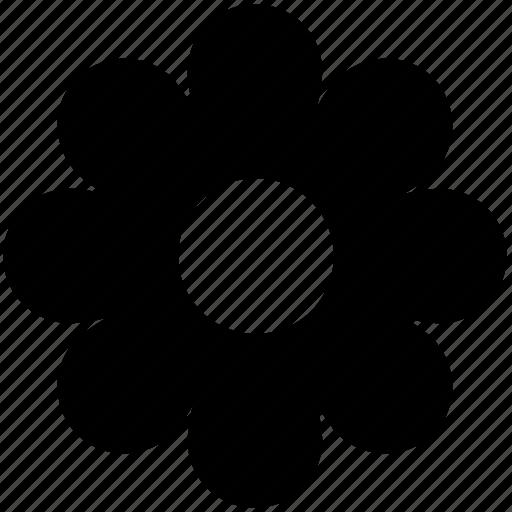 creative, flower, flower design, pretty, round petals flower icon