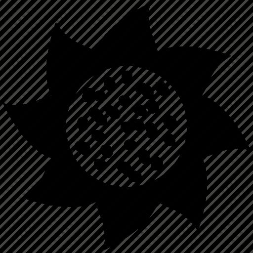 creative, creative flower, flower, pretty, swirl shape icon