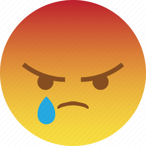 angry, emoji, mad, rage, react, sad, taunt icon