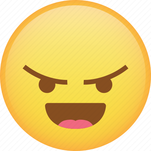 angry, emoji, laugh, mad, rage, react, taunt icon