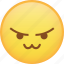 angry, cat mouth, emoji, mad, rage, react, taunt icon