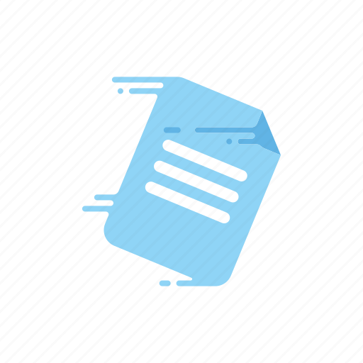 document, fast, letter, message, motion, speed, streak icon