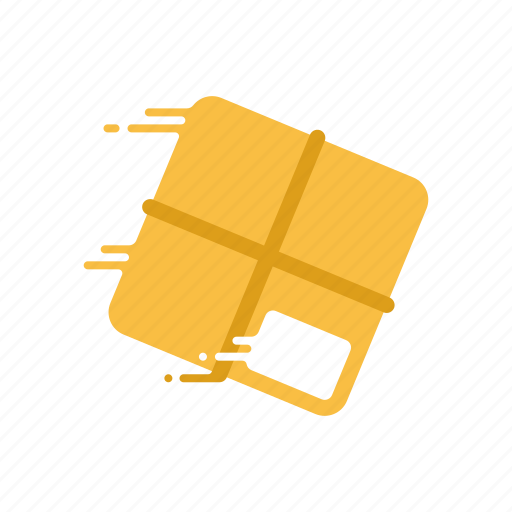 box, fast, motion, parcel, shipping, speed, streak icon