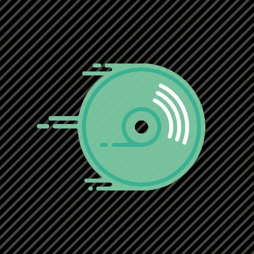 cd rom, disc, dvd, fast, motion, speed, streak icon