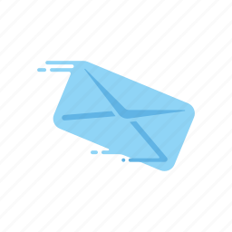 envelope, fast, letter, mail, motion, speed, streak icon