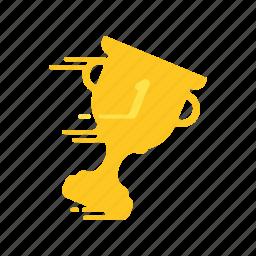 award, cup, fast, motion, speed, streak, winner icon