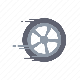 delivery, fast, motion, speed, streak, transportation, wheel icon