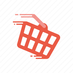 basket, fast, motion, retail, shopping, speed, streak icon