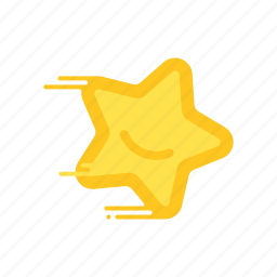 fast, motion, rating, smiling, speed, star, streak icon