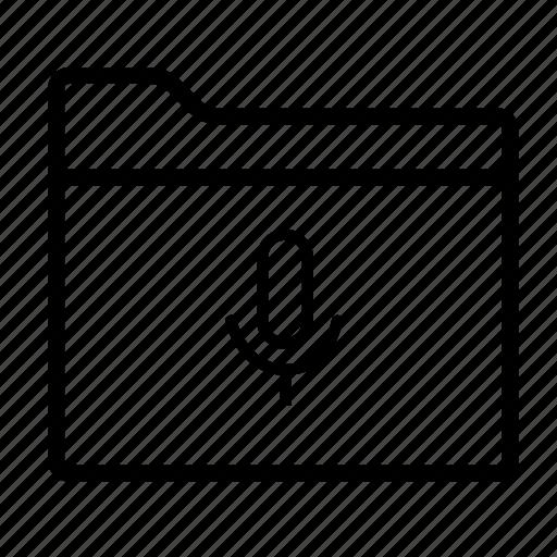 folder, folder voice, folders, microphone, sound folder, voice folder icon