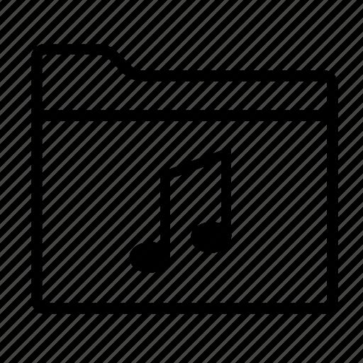 folder, folders, media, multimedia, music, music folder, sound icon