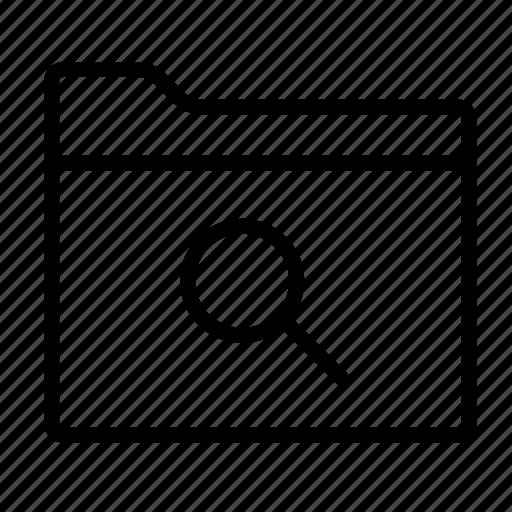 file, folder, folders, search, search folder, seo, zoom icon