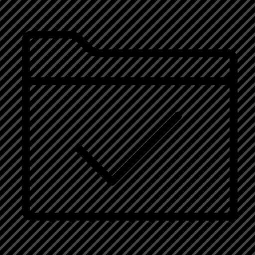 directory, folder, folders, select, select folder, tick, tick mark icon