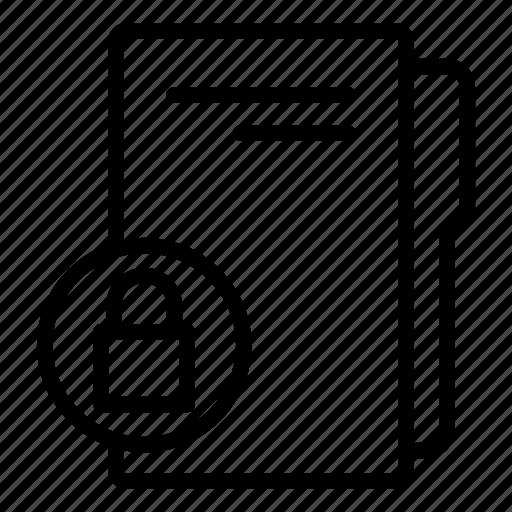 computer folder, data folder, folder, folder lock, folder storage, password lock icon