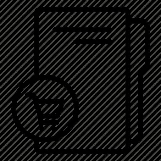 computer folder, data folder, folder, folder storage, purchase folder, shopping folder icon