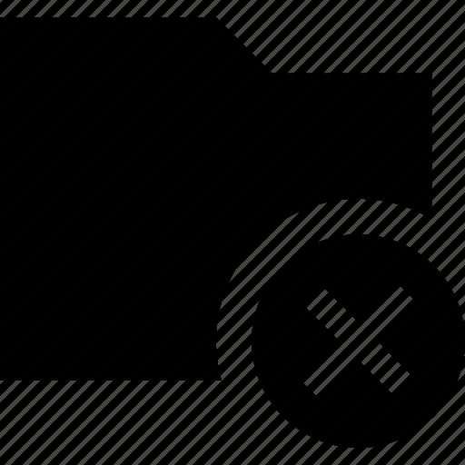 cancel, document, documents, file, folder icon