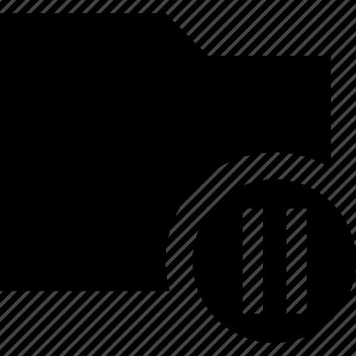 data, document, file, folder, pause icon